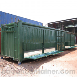 Container cắt nóc 40FT cao 2.9m mở cửa ngang