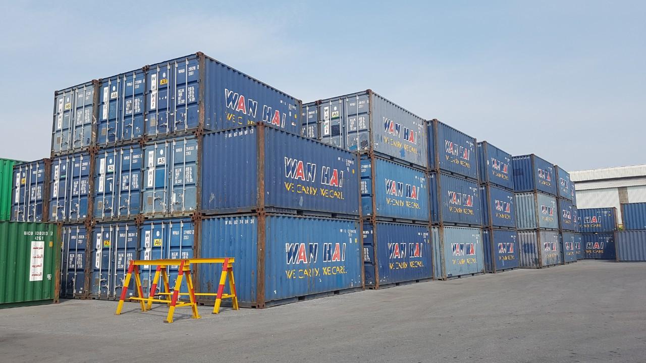 Bãi container cũ tại Hải Phòng
